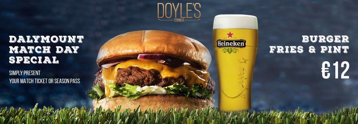 Dalymount Match Day Special at Doyles Corner