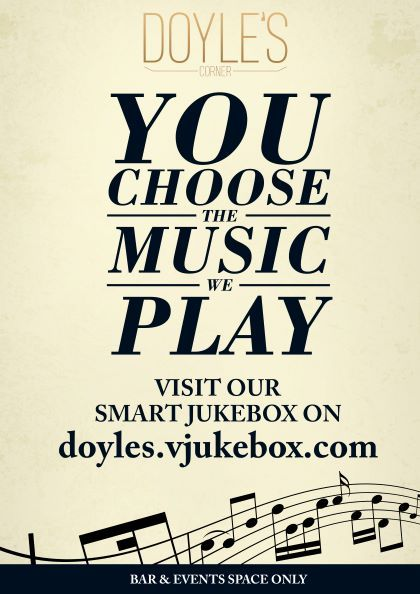 Smartphone jukebox at Doyles Corner